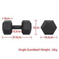 Hanteln 2er Set Kurzhanteln 5 Kg Hantelstangen mit Oberfläche aus Kunststoff für Krafttraining, Gymnastik und Fitness