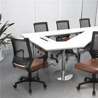 2x Bürostuhl Kunstleder Schreibtischstuhl atmungsaktiver Drehstuhl Kunstleder und Mesh höhenverstellbar Wippfunktion