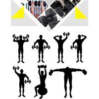 Hantelset 20 KG Kurzhanteln Gusseisen Hantel mit Sternverschlüsse Fitness Gymnastik Hanteln für Krafttraining