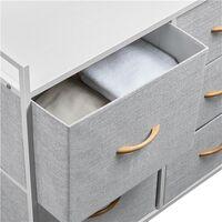 Schubladenschrank Beistellschrank mit Metallrahmen und Fünf Schubladen Kommode für Schlafzimmer, Flur und Eingangsbereich 83 x 29 x 82 cm