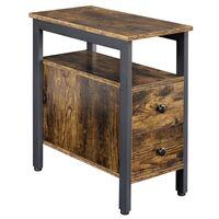 Beistelltisch Nachttisch Sofatisch mit Schubladen Couchtisch im Industrie-Design für Wohnzimmer Schlafzimmer