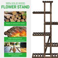 6 Etagen Blumenständer, Blumenregal aus Massivholz, Pflanzenregal, Blumenbank für Balkon/Terrasse/Garten, platzsparend