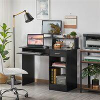 Computertisch Schreibtisch mit Schubladen Bürotisch für Büro und Zuhause, 106 x 94 x 50 cm (B/H/T)