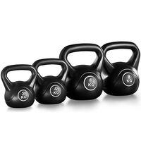Kettlebell Kugelhantel Set Fitness Schwunghantel Kunststoff Gewichte Hantel für Krafttraining 2 bis 8 KG