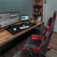 Gaming Stuhl Racing Stuhl Ergonomischer Drehstuhl Höhenverstellbarer Schreibtischstuhl mit Fußstütze Hohe Rückenlehne mit einstellbaren Armlehnen 150 kg