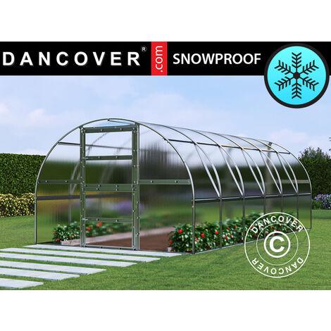 Invernadero de policarbonato TITAN Arch 280, 18m², 3x6m, Plateado