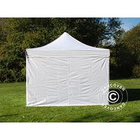Carpa plegable Carpa Rapida FleXtents PRO 4x4m Blanco, Incl. 4 lados
