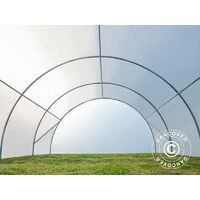 Invernadero túnel 4x10m, 40m², 150Mic, Translúcido