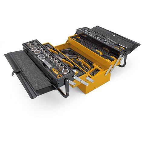 Caisse à outils métallique VITO 88 Pièces Qualité CHROME VANADIUM Outils robustes Haute qualité