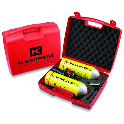 Chalumeau gaz pro + 2 bonbonnes gaz KEMPER mallette