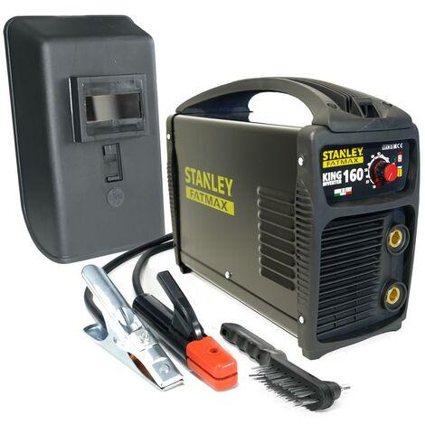 Poste à souder inverter STANLEY FATMAX KING 160 PRO 100% Duty cycle MMA Electrodes Acier Inox Fonte Basiques 1.6 à 4 mm