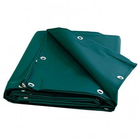 Bache Plastique PVC 6 X 10 m VERTE Lourde avec Oeillets /25cm Qualité professionnelle