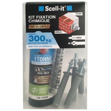 Kit de Scellement chimique Tiges INOX M6 Garanties à vie SCELL-IT Jusqu'à 300Kg résistance