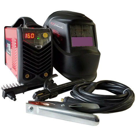 Poste à souder Inverter 160A MMA-TIG + Cagoule LCD 3-11 SCHUMACHER Professional