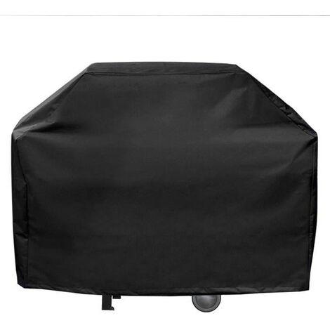 Housse de protection barbecue 160 x 68 x 120 cm Noire doublée rembourrée
