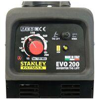 Poste à souder 200A MMA TIG LIFT STANLEY FATMAX EVO200 Professionnel Baguettes soudure Acier Inox Fonte Basiques 1.6 - 5 mm