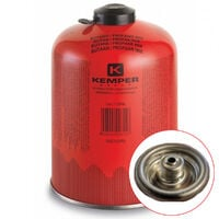 Cartouche gaz 460g butane propane mix KEMPER Bouteille de gaz à valve 7/16 Bonbonne camping EN 417