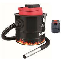 Aspirateur de cendres sans fil Batterie LITHIUM 18V 2.0Ah NIKLAS Fonction souffleur Cuve 10L Polyvalent