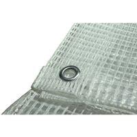 Toile pour pergola et tonnelle 4 x 6 m 170g/m² - Bâche pour pergola et tonnelle transparente - 4x6 m en polyéthylène