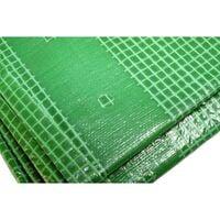 Toile 4 x 3 m pour pergola et tonnelle 170g/m² - Bâche pour pergola et tonnelle verte - 4x3 m en polyéthylène