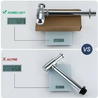 """Siphon de Lavabo en Acier Inox Siphon pour vasque et lavabo hauteur réglable Set de Siphon G1-1-4"""""""