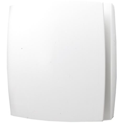 Breeze White Wall Mounted Bathroom Fan with Timer