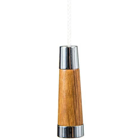 Miller Oak Conical Light Pull