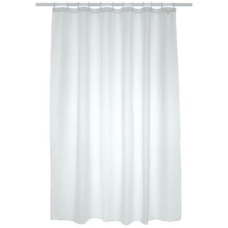 Plain Polyester Shower Curtain 1800mm x 1800mm - White