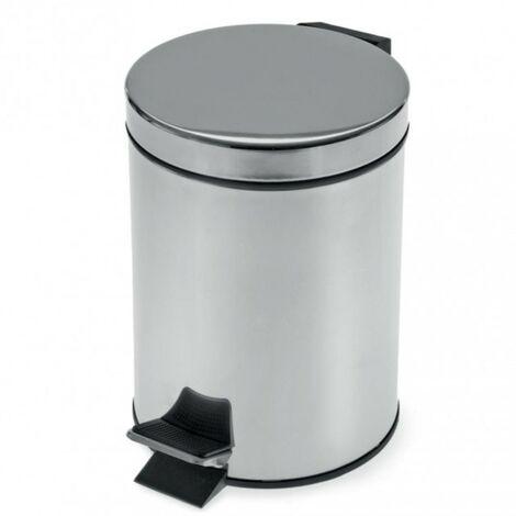 Round Pedal Waste Bin 5L - Chrome