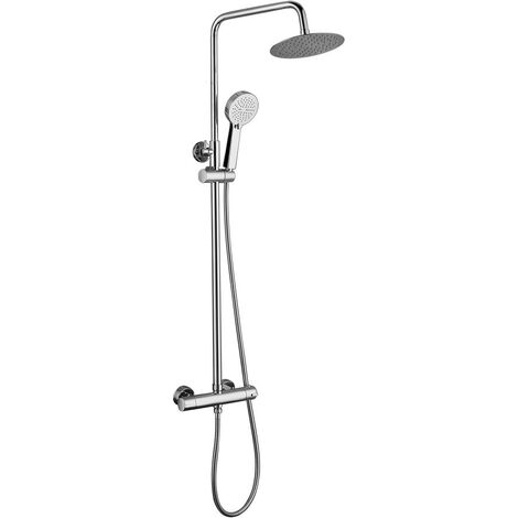 Sonar Chrome Thermostatic Mixer Shower & Adjustable Rigid Riser Rail Kit