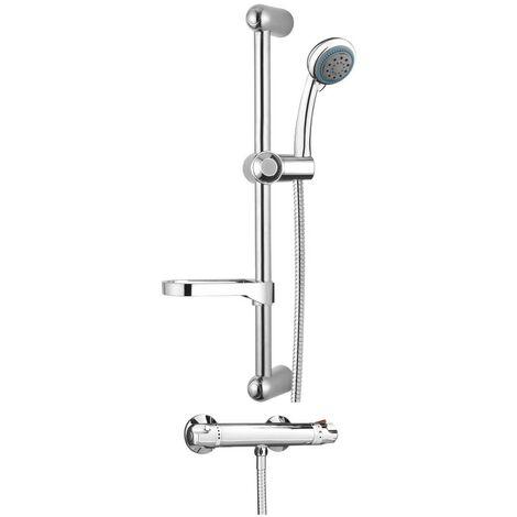 Dallas Chrome Thermostatic Mixer Shower & Slider Rail Kit