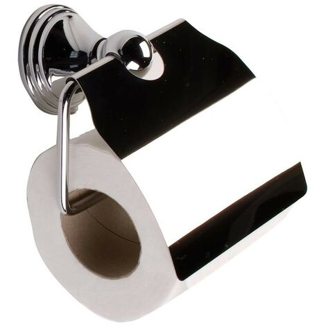 Arno Toilet Roll Holder with Cover - Chrome