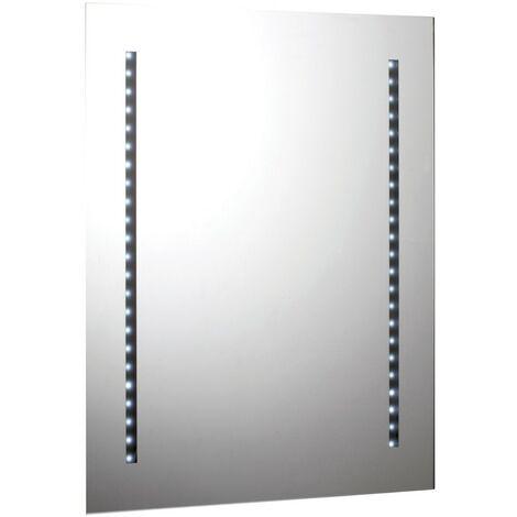 Rectangular 46 Strip Light Battery Operated LED Mirror 500mm x 650mm