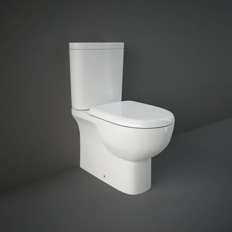 RAK Tonique Close Coupled Closed Back Toilet & Soft Close Seat