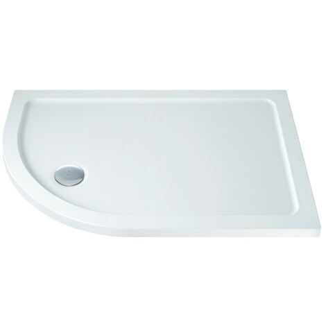 MX Low Profile 900mm x 760mm Offset Quadrant Shower Tray & Waste - Left Hand