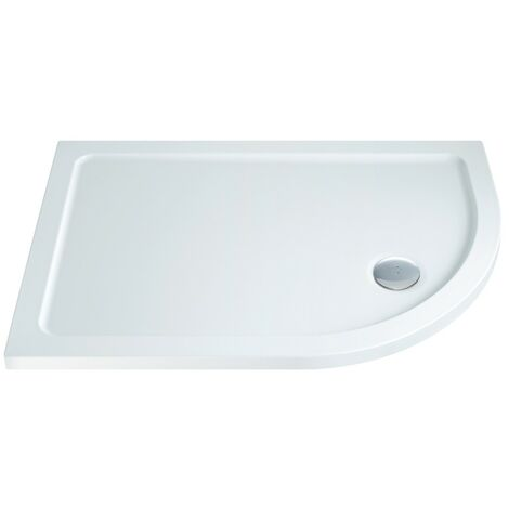 MX Low Profile 1200mm x 800mm Offset Quadrant Shower Tray & Waste - Right Hand