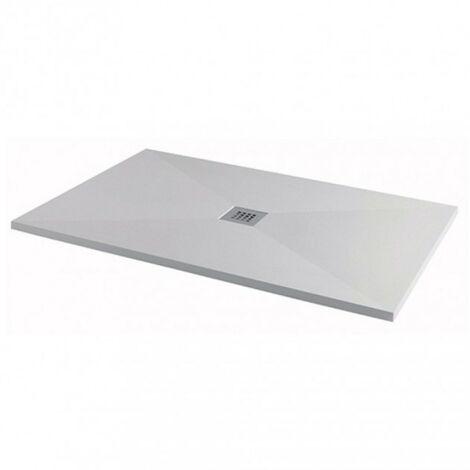 Silhouette 1200mm x 900mm White Anti-Slip Rectangular Shower Tray & Waste
