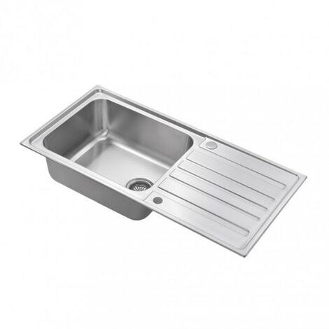 Scott & James Superdeep Single Bowl Reversible Stainless Steel Sink - Single Drainer