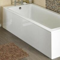 ICE 1700mm White Gloss 1 Piece Bath Front Panel