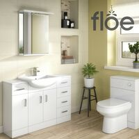 Floe 650mm Gloss White Mirror