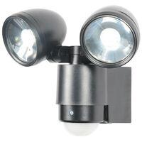 Zinc Sirocco LED Twinspot Floodlight with PIR
