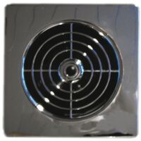 """Manrose 4"""" Low Profile Chrome Extractor Fan"""