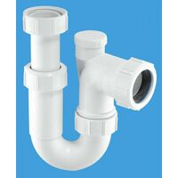 McAlpine Adjustable Inlet Tubular Swivel Anti-Syphon 'P' Trap - 1.1/4
