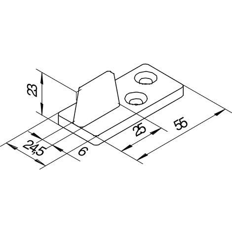 Bodenführung HELM 73, Nutbreite 8 mm, Kunststoff