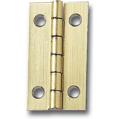 Standard Kassettenscharnier 20x15 mm, Stahl vermessingt