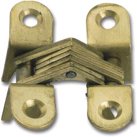 Vici Einbohr-Scharnier H: 40 mm, Holzstärke 17-20 mm, Messing