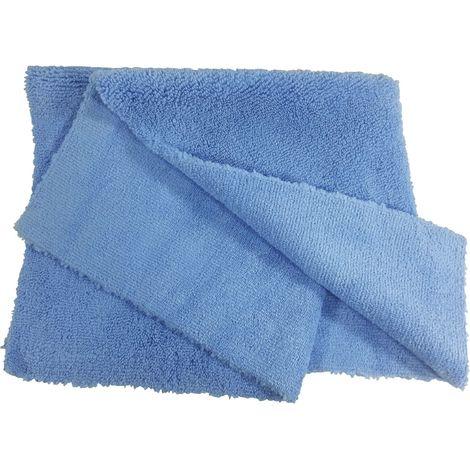 Microfasertuch hochfloor mit nahtlosem Rand 40 x 40 cm Farbe blau