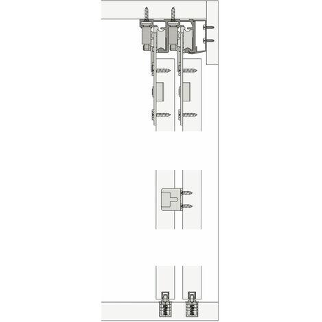 HAWA COMBINO 65 H IS Schiebetürbeschlag Innenfront, 2-türig