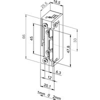 Türöffner 118F.13 ProFix2, FaFix 10-24V, ohne Schließblech