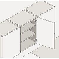 BLUM CLIP Standardscharnier 100°, 9,5mm gekröpft, mit Feder, Einpressen